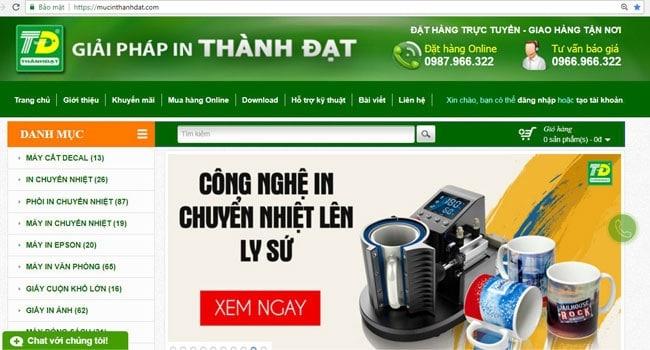 Mua thiết bị và vật tư in ấn chính hãng, giá tốt nhất tại Mực in Thành Đạt