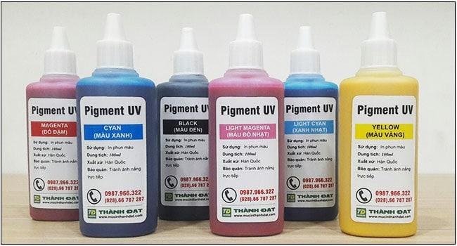 Mực dầu Pigment UV 100ml