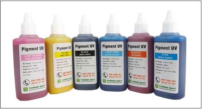 Ứng dụng của Mực dầu Pigment UV