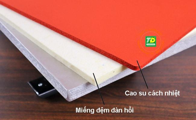 Trang bị 2 miếng lót: cao su cách nhiệt & mút xốp kèm theo Máy Ép Nhiệt 32x45