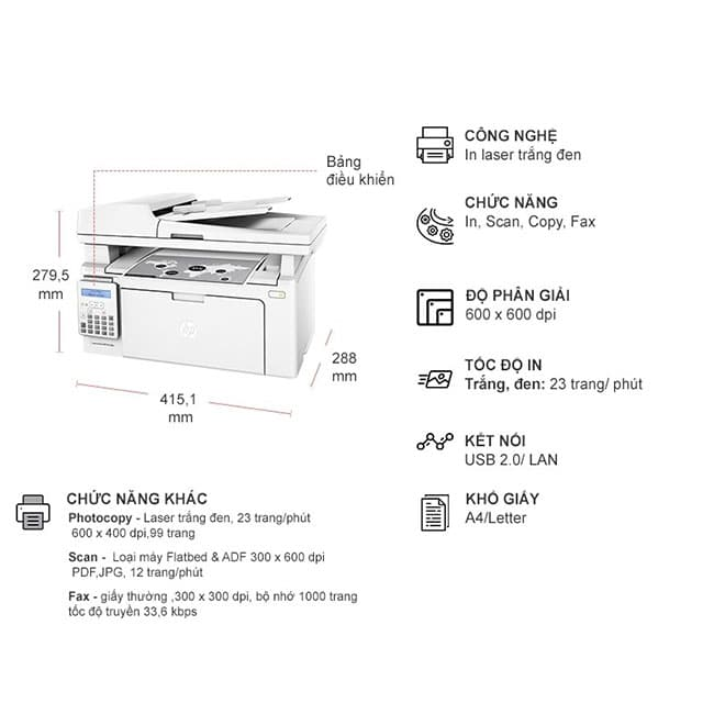 Máy IN HP MFP M130FN Laserjet Pro SIÊU RẺ