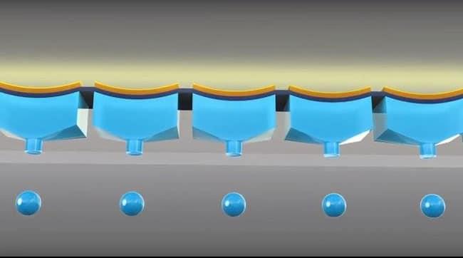 Các giọt mực có thể đạt được độ chính xác đến 1.5 picoliter