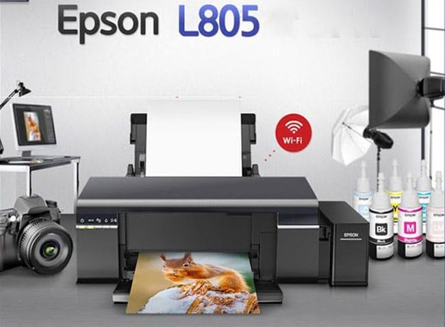 Epson l805 có thiết kế nhỏ gọn; sang trọng và tối giản