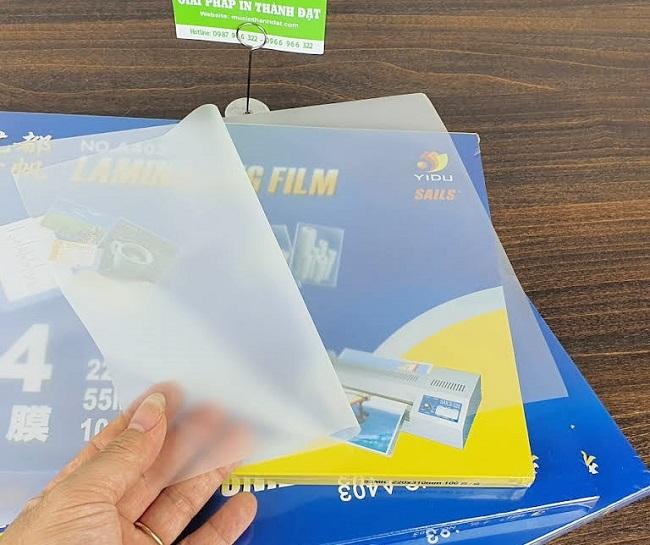 giấy ép plastic