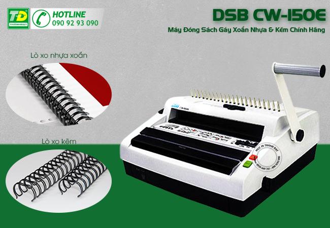 Máy Đóng Sách Gáy Xoắn Nhựa & Kẽm DSB CW-150E