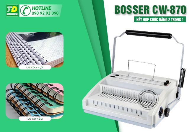 Máy Đóng Sách Lò Xo Kẽm & Nhựa Bosser CW-870