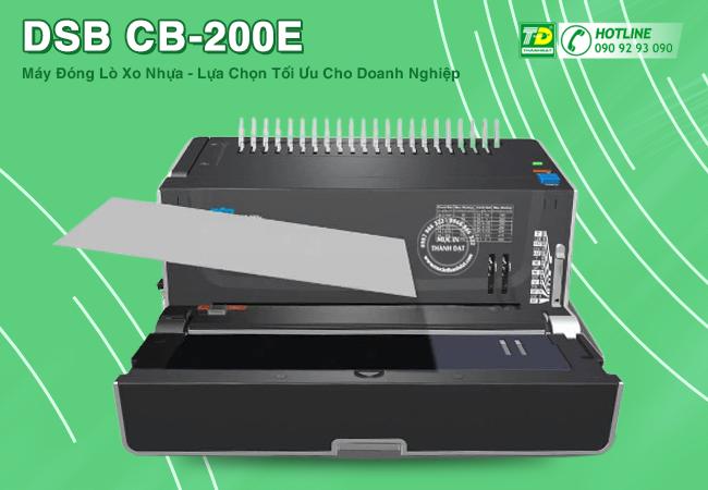 Máy Đóng Sách Lò Xo Nhựa DSB CB - 200E